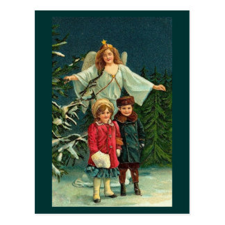 MERRY CHRISTMAS HAPPY NEW YEAR GUARDIAN ANGELL POST CARDS