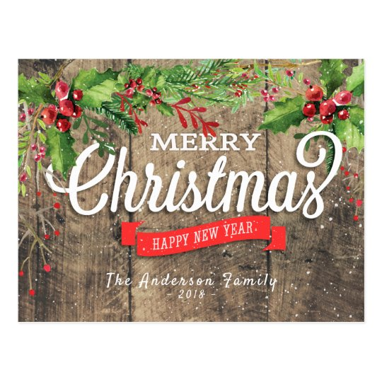 Merry Christmas & Happy New Year Holiday Greetings
