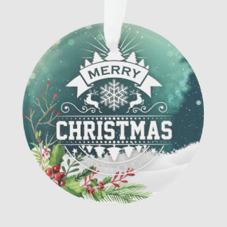 Merry Christmas & Happy New Year Holiday Ornament