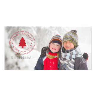 Merry Christmas & Happy New Year Holiday Photocard Card
