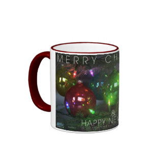 Merry Christmas & Happy New Year in 3D Ringer Mug