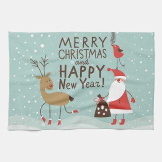 Merry christmas & happy new year,jule celebration, hand towel