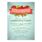 Merry Christmas & Happy New Year Party Invitation