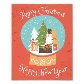 Merry Christmas Happy New Year Photo Print