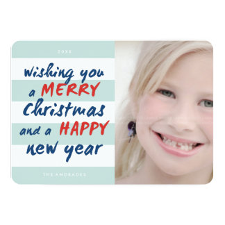 Merry Christmas Happy New Year Picture Cards 13 Cm X 18 Cm Invitation Card