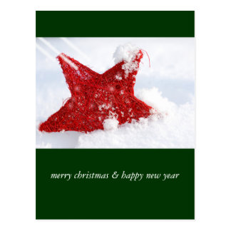 merry christmas & happy new year postcards