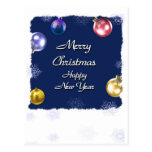 Merry Christmas Happy New Year Postcards