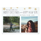 Merry Christmas & Happy New Year Script Two Photos Card