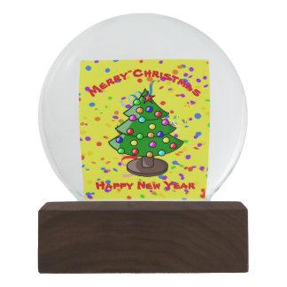 Merry Christmas & Happy New Year Snow Globe