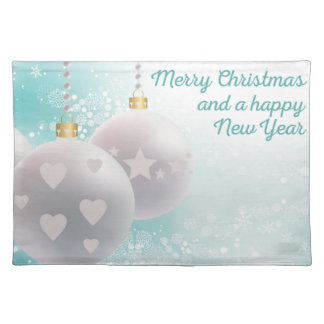 Merry christmas happy year placemat