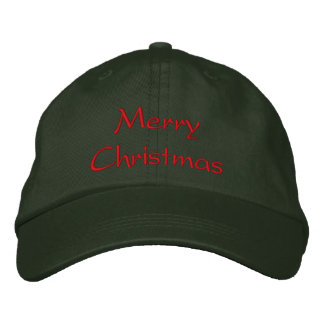 Merry Christmas Hat Embroidered Hat