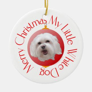 Merry Christmas Havanese Christmas Ornament