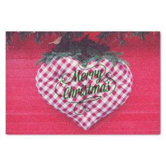"Merry Christmas Heart 10"" X 15"" Tissue Paper"