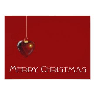 MERRY CHRISTMAS HEART ~ 17 CM X 22 CM INVITATION CARD