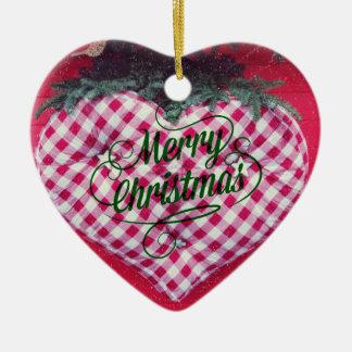 Merry Christmas Heart Ceramic Heart Decoration