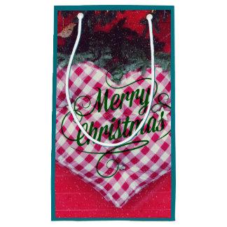 Merry Christmas Heart Small Gift Bag