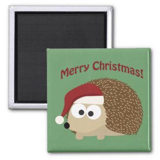 Merry Christmas! Hedgehog Square Magnet