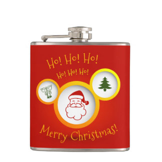 Merry Christmas Hip Flask