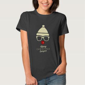 Merry Christmas Hipster Rudolph Women's T-shirt