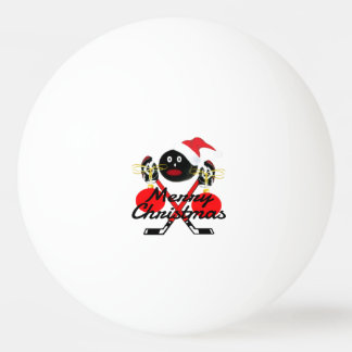 Merry Christmas Hockey Cartoon Ping Pong Ball