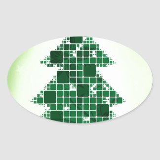 Merry Christmas  Holiday celebrations Santa Clause Oval Sticker