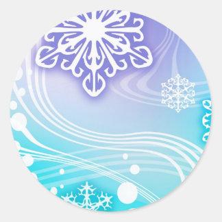 Merry Christmas  Holiday celebrations Santa Clause Round Sticker