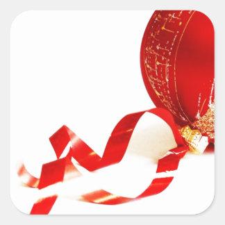 Merry Christmas  Holiday celebrations Santa Clause Square Sticker
