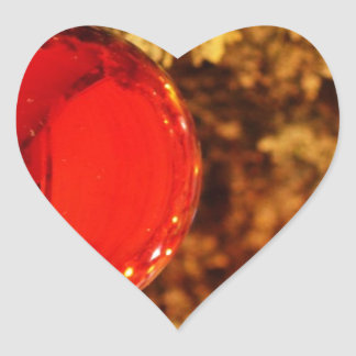 Merry Christmas  Holiday celebrations Santa Clause Heart Sticker