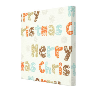 Merry Christmas Holiday Design Gallery Wrapped Canvas