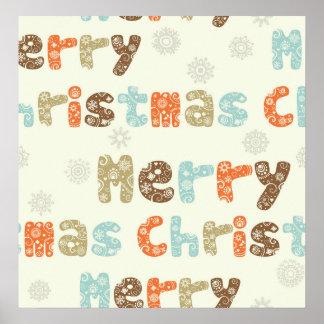 Merry Christmas Holiday Design Print