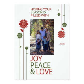 Merry Christmas Holiday Flowers Card