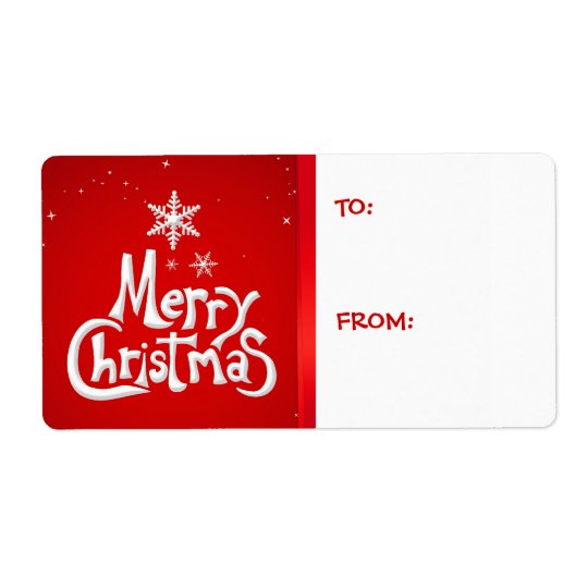 Merry Christmas Holiday Gift Tags labels
