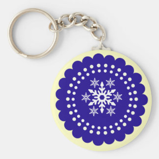 Merry Christmas Holiday Keychains-Stocking Stuffer Basic Round Button Key Ring