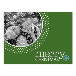 Merry Christmas - Holiday Photo Dots Postcard