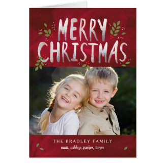 Merry Christmas Holiday Photo Greeting Cards