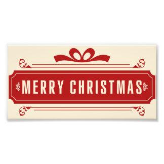 Merry Christmas Holiday Photo Print