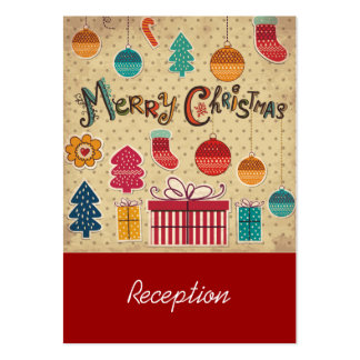 Merry Christmas Holiday Reception Card Pack Of Chubby Business Cards