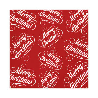 Merry Christmas Holiday Red Seasonal Design Gallery Wrapped Canvas