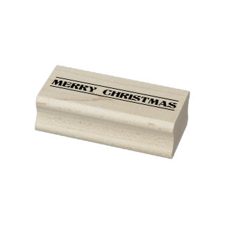 Merry Christmas Holiday Rubber Stamp