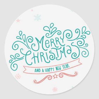 Merry Christmas Holiday Stickers