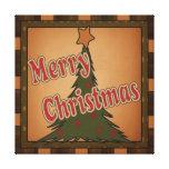 Merry Christmas Holiday Tree Canvas