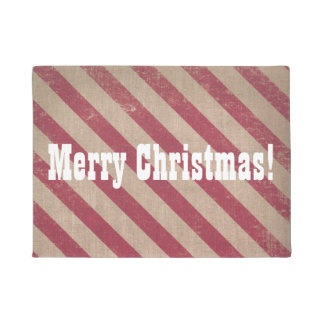 Merry Christmas Holiday Welcome Door Mat