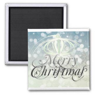 Merry christmas holidays magnet