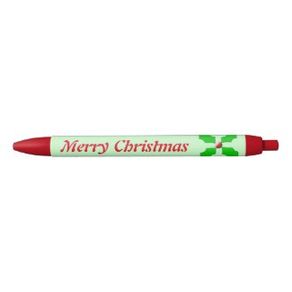Merry Christmas Holly Custom Pen
