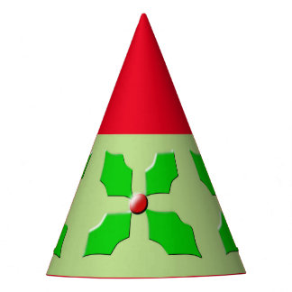 Merry Christmas Holly Party Hat