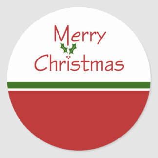 Merry Christmas Holly Stickers