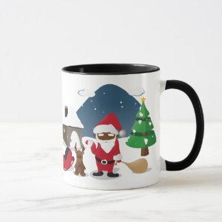 Merry Christmas Homeboys: Black Santa & Blingin' Mug