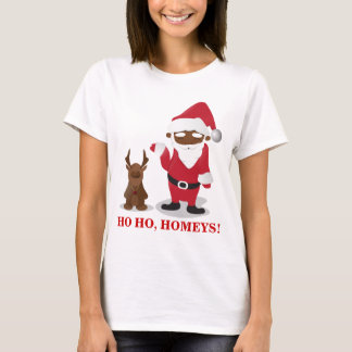 Merry Christmas Homeboys: Black Santa & Blingin' T-Shirt