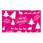 Merry Christmas Hot Pink Holiday Xmas Design Business Card