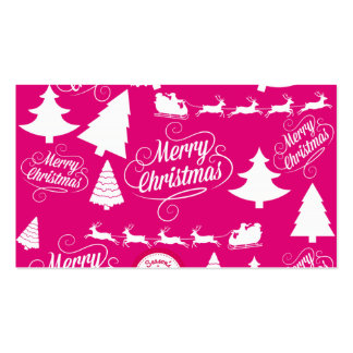 Merry Christmas Hot Pink Holiday Xmas Design Pack Of Standard Business Cards